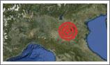Carta dell'epcentro del sisma